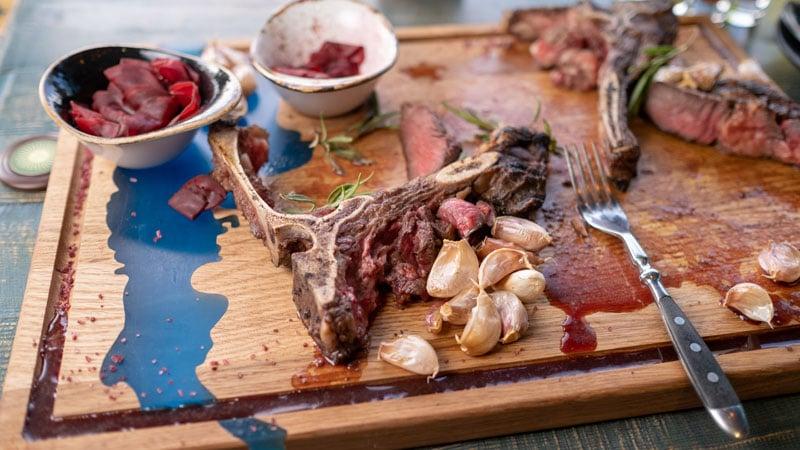 leftover meat on bone