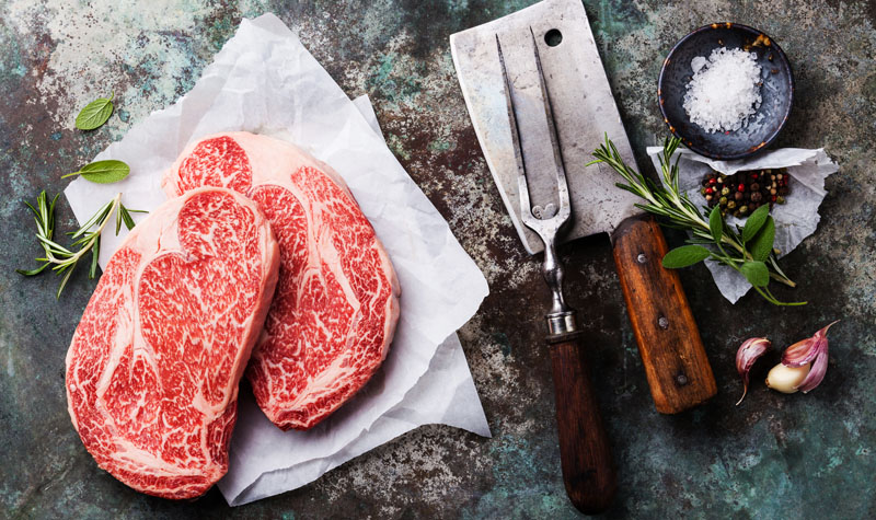 raw wagyu beef