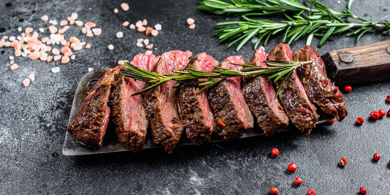 Grilled top blade, Denver steak.