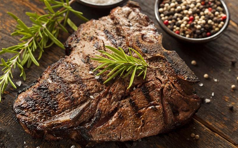 crust on steak