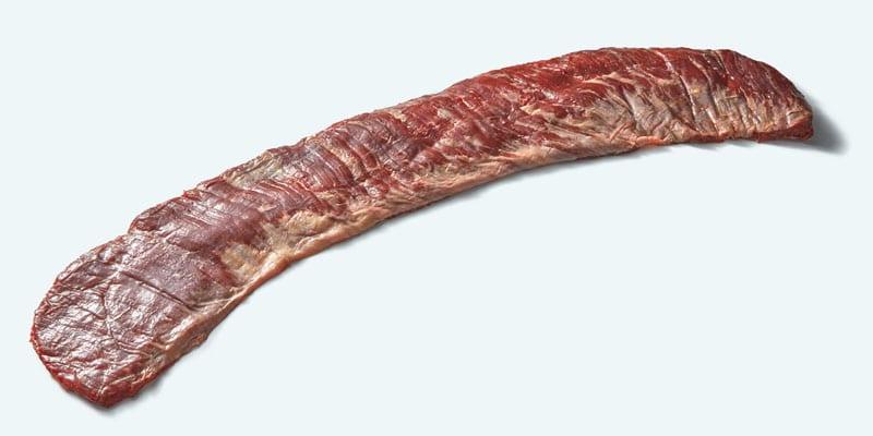 Raw beef bavette steak