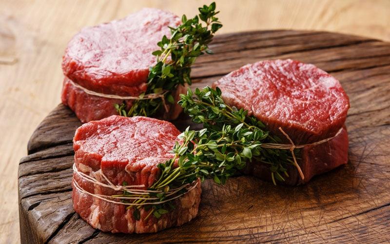 Raw fresh steak filet migno