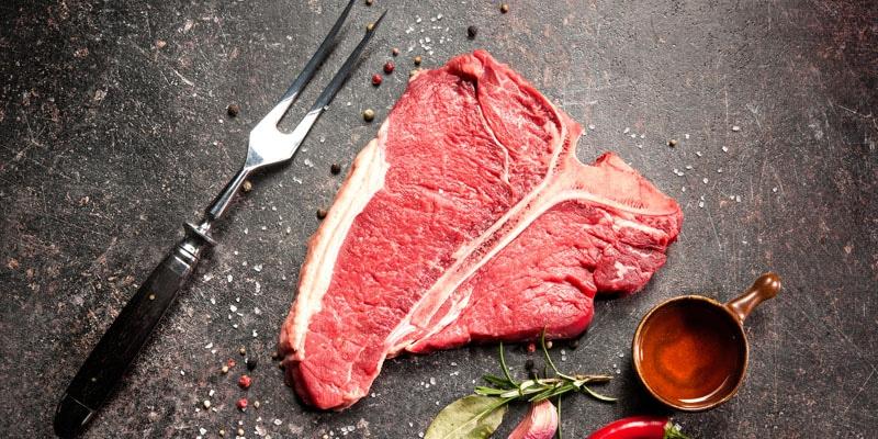 Raw fresh porterhouse steak