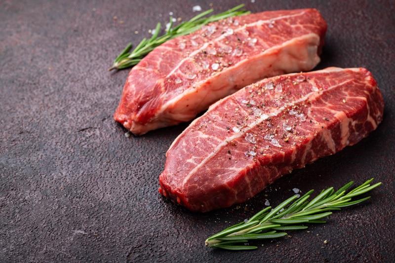 raw beef blade steak